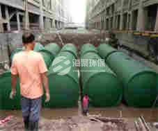 淮北烈山凤凰社区水泥化粪池